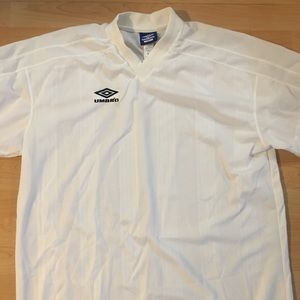 Vintage 90's Umbro All White Soccer Jersey XL